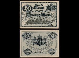 Rheinland - Neuss Stadt 20 Mark 12-11-1918 Notgeld (15685