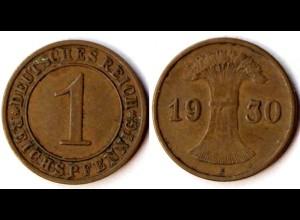1 Reichspfennig 1930 E - Deutsches Reich Weimar Jäger Nr. 313 (r538