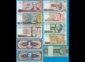 Brasilien - Brazil 10 Stück Banknoten UNC (19067