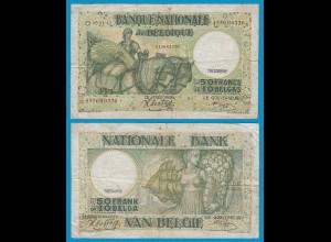 Belgien - Belgium 50 Francs 3.1.1942 Pick 106 gutes F (19095