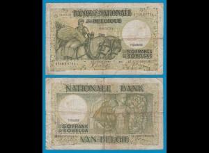 Belgien - Belgium 50 Francs 1.7.1938 Pick 106 VG/F (19096