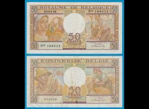 Belgien - Belgium 50 Francs 3.4.1956 Pick 133b gutes VF (19100