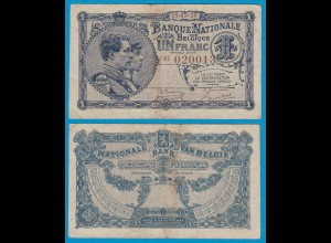 Belgien - Belgium 1 Franc 29.3.1920 Pick 92 gutes VF (19106