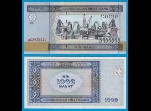 ASERBAIDSCHAN - AZERBAIJAN 1000 Manat 2001 UNC Pick 23 (19155