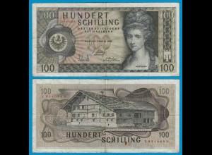 Österreich - Austria 100 Schilling 1969 Banknote 2. Auflage Pick 146a VF (19169