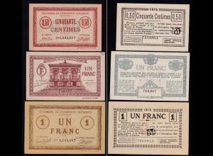 Frankreich - France - 50 Centimes + 2 mal 1 Francs D´AMIENS 1914 (15200