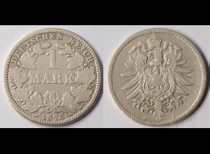 DR Kaiserreich 1 Mark Silber 1875 A gebraucht Jäger 9 (r1277