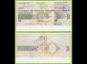 DDR Reisescheck 50 Mark Eingelöst in der Karibik 1989 (19455