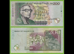 MAURITIUS - 200 RUPEES BANKNOTE 2001 Pick 57 UNC (19466