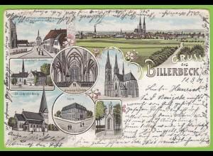 AK Litho Billerbeck 1901 bei Coesfeld Nottuln nach Münster (19487