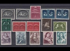 Niederlande aus Mi. 405-421 postfrisch Freimarken 1943/44 (80002