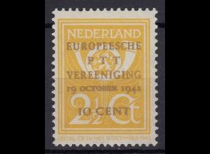 Niederlande Mi. 404 postfrisch Kongreß der Europäischen 1943 (80006