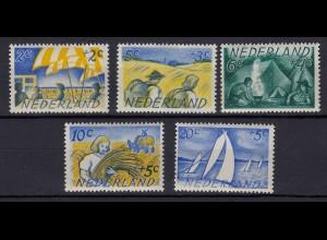Niederlande Mi. 516-520 postfrisch Sommermarken 1949 (80014