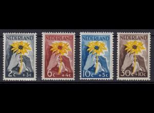 Niederlande Mi. 521-524 postfrisch Stiftung Niederland hilft Indien 1949 (80015