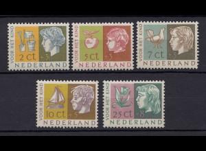Niederlande Mi. 631-635 postfrisch Voor het Kind 1953 (80018