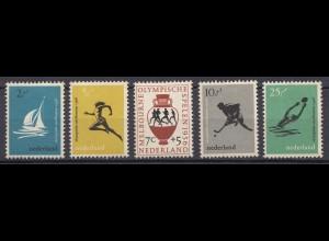 Niederlande Mi. 678-682 postfrisch Olympische Sommerspiele 1956 (80024
