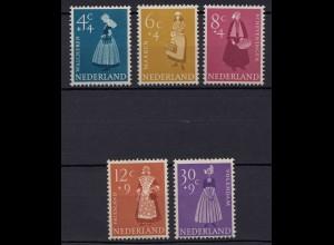 Niederlande Mi. 712-716 postfrisch Sommermarken 1958 (80029