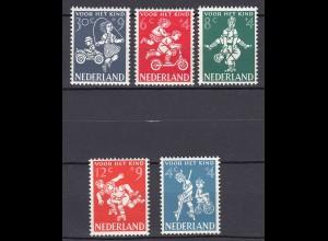 Niederlande Mi. 723-727 postfrisch Voor het Kind 1958 (80030