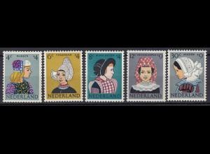 Niederlande Mi. 755-759 postfrisch Sommermarken 1960 (80033