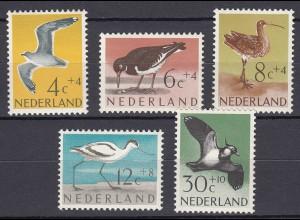 Niederlande Mi. 760-764 postfrisch Sommermarken 1961 (80034