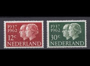 Niederlande Mi. 772-773 postfrisch Sommermarken 1962 (80036
