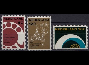 Niederlande Mi. 779-781 postfrisch Vollautomatisierung 1962 (80038