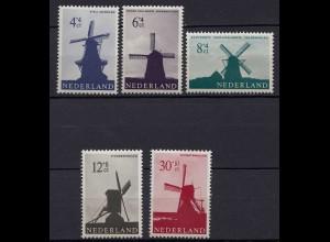 Niederlande Mi. 794-798 postfrisch Windmühlen 1963 (80044