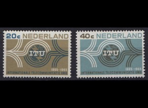 Niederlande Mi. 840-841 postfrisch 100 Jahr ITU 1965 (80045