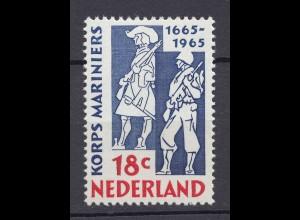 Niederlande Mi. 855 postfrisch 300 jahr Korps der Marinesoldaten 1965 (80049