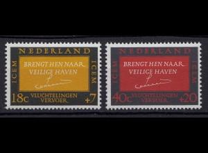 Niederlande Mi. 856-857 postfrisch Zwischenstaatliches (ICEM) 1966 (80050