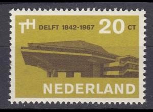 Niederlande Mi. 871 postfrisch 125 jahre Technische Hochschule Delft 1967 (80054
