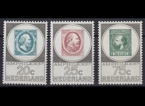 Niederlande Mi. 880-882 postfrisch Briefmarkenausstellung AMPHILEX 1967 (80056