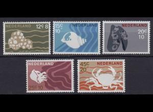 Niederlande Mi. 873-877 postfrisch Sommermarke 1967 (80057