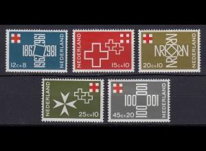 Niederlande Mi. 883-887 postfrisch 100 Jahre Niederländisches 1967 (80058