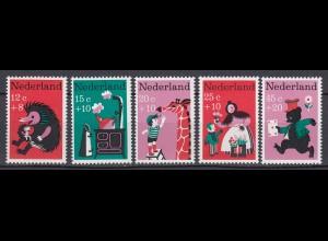 Niederlande Mi. 888-892 postfrisch Voor het Kind 1967 (80059