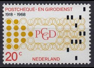 Niederlande Mi. 893 postfrisch 50 Jahre niederländisches Postscheck 1968 (80060