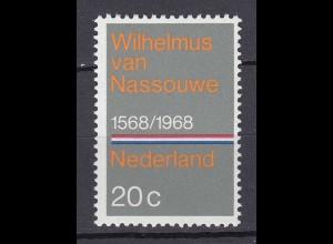 Niederlande Mi. 901 postfrisch 400 Jahre Nationalhymne 1968 (80062