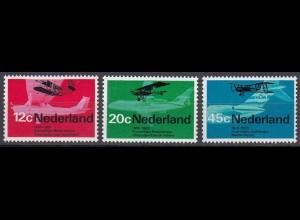 Niederlande Mi. 902-904 postfrisch Jahrestage Luftfahrt 1968 (80063