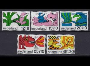 Niederlande Mi. 905-909 postfrisch Voor het Kind 1968 (80064