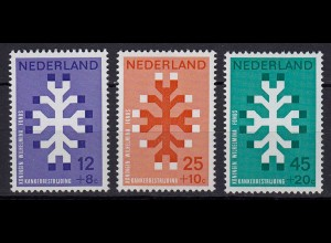 Niederlande Mi. 923-925 postfrisch 20 Jahre Königin- Wilhelmina Fonds 1969 (80067