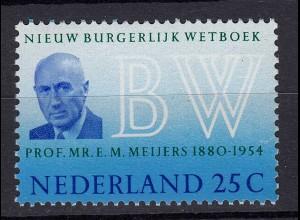 Niederlande Mi. 934 postfrisch Neues Bürgerliches Gesetzbuch 1970 (80072