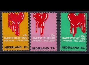 Niederlande Mi. 946-947 postfrisch Kampf gegen Herzerkrankungen 1970 (80076