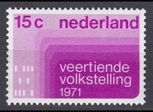 Niederlande Mi. 957 postfrisch Volkszählung 1971 (80079