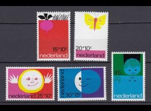 Niederlande Mi. 969-973 postfrisch Voor het Kind 1971 (80082