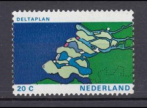Niederlande Mi. 974 postfrisch Verwirklichung des Deltaplanes 1972 (80083