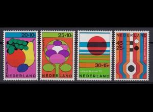 Niederlande Mi. 983-986 postfrisch Sommermarken 1972 (80084