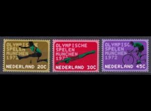 Niederlande Mi. 991-993 postfrisch Olympische Sommerspiele München 1972 (80087