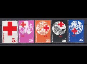 Niederlande Mi. 994-998 postfrisch Rotes Kreuz 1972 (80088