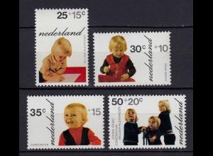 Niederlande Mi. 1001-1004 postfrisch Voor het Kind Prinzen 1972 (80090