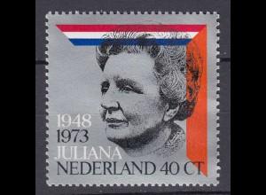 Niederlande Mi. 1017 postfrisch Königin Juliana 1973 (80094